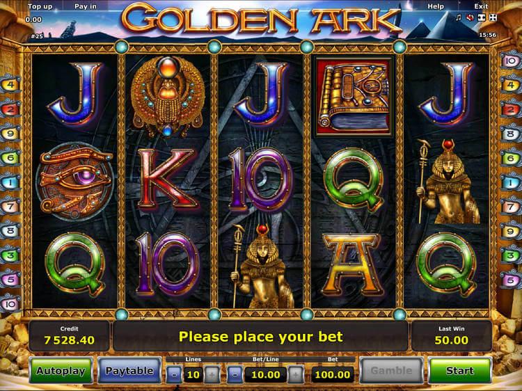 Revisión del juego de casino Golden Ark Online Slots para jugadores